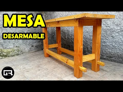 ¿Cómo hacer una mesa de madera? DESARMABLE Fácil | How to make a wooden table? DETACHABLE