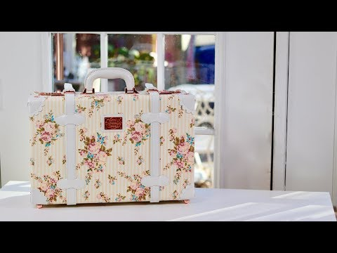 😍 COTRUNKAGE     ❤️ Small Floral Carry on  Suitcase - Review     ✅