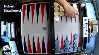 III Mistrzostwa Polski w Backgammona - Runda 1 - Karol Szczerek vs Hubert Strzałkowski