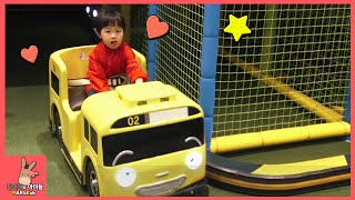 Kid Indoor Playground Family Fun Play Area for kids! Tayo bus car kids cafe toys | MariAndKids