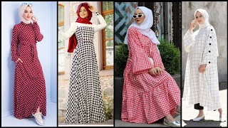 Top 50 Pretty Striped Maxi Dresses To Wear With Hijab Fashion/Cotton Maxi Dress