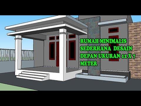 Desain Rumah Minimalis Sederhana Tampak Depan Ukuran 12 x 7 meter