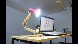 Wooden Desk Lamp! How To Make ..