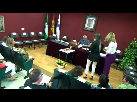 Pleno investidura Ayuntamiento de Cájar 2019.