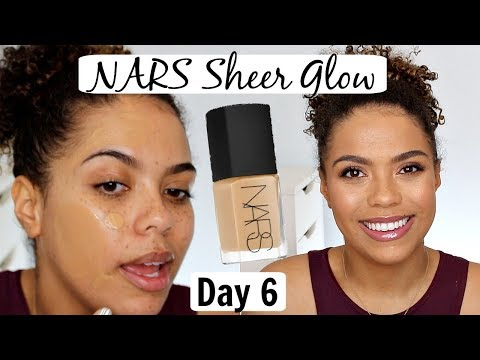 NARS Sheer Glow Foundation Review/Wear Test | 12 DAYS OF FOUNDATION DAY 6