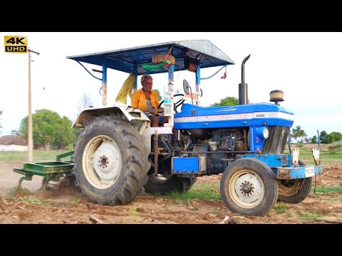 POWERTRAC 445 Tractor Field work Video | come to village
