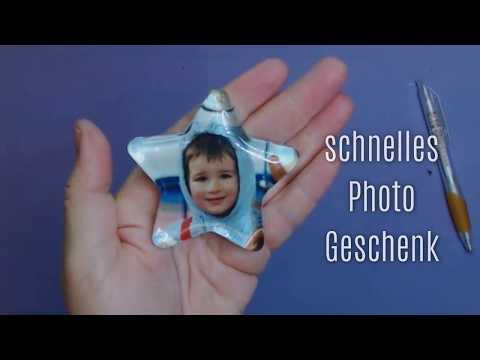 🎀 Ein Foto als Briefbeschwerer | Geschenke basteln rund ums Jahr 🎀