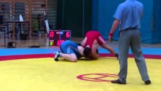 preview picture of video 'MMP Kadetów Brzeźnica 2014 - 100 kg - walka o III m. -  Dobrogowski vs. Brylewski'