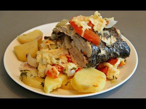 Рыба Сиг в духовке с картошкой! ПОДРОБНО