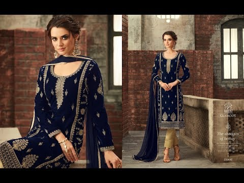 c4a8705592 Latest Indian Dresses Collection 2018 || Mohini Glamour || Mohini Glamour  Vol 55 Velvet Heavy