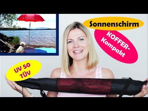 Must-Have für den Sommerurlaub | Reise Sonnenschirm | Kompakt für Koffer und Flugzeug | UV Schutz