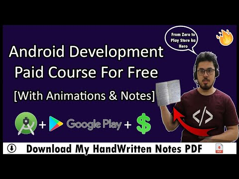 Android Development Tutorial For Beginners In Hindi (With Notes) 🔥