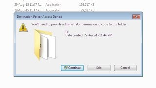 you will need to provide administrator permission