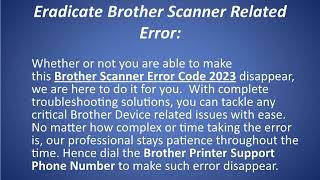 Brother Scanner Error Code 2023
