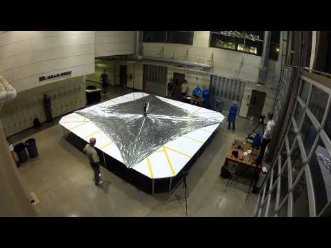 LightSail sail deployment test timelapse