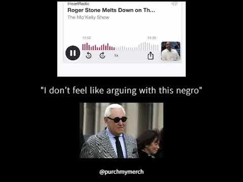"Roger Stone calls black radio host Mo'Kelly a ""𝙉𝙚𝙜𝙧𝙤"" | full English subtitles/transcription/lyrics"
