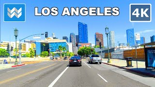 [4K] Driving entire Wilshire Blvd from Santa Monica to Downtown Los Angeles in California