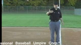 Umpire Training - Fair, Foul Around The Bag In 2 Umpire System
