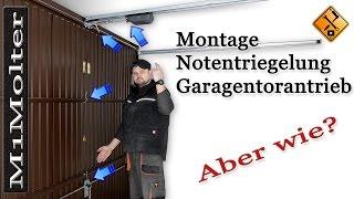 Notentriegelung für Garagentorantrieb Montage & Installation von M1Molter