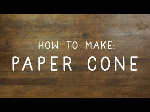 How to make a cone out of paper - DIY & Crafts Essentials by Handimania