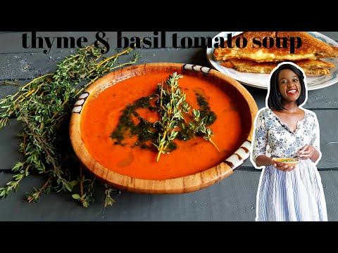 THYME AND BASIL TOMATO SOUP | KALUHI'S KITCHEN