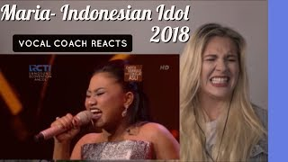 VOCAL COACH |MARIA - STAND UP FOR LOVE Indonesian Idol 2018