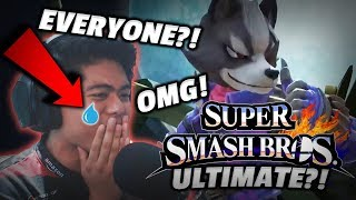 Nintendo Fan REACTS and CRIES from SMASH BROS ULTIMATE CHARACTER REVEALS!