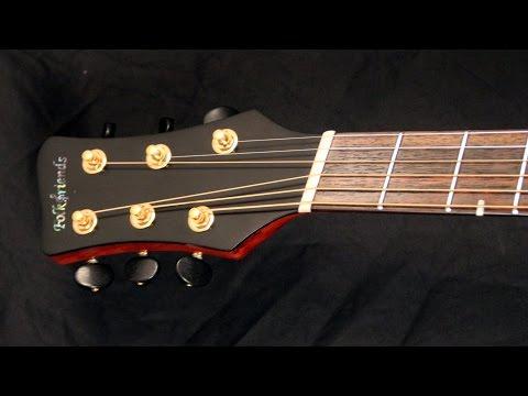 Multiscale Fanfret Gitarre mit Fächerbünden