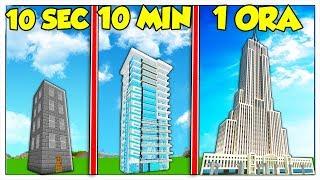 GRATTACIELO DA 10 SECONDI CONTRO 10 MINUTI VS 1 ORA! - Minecraft ITA