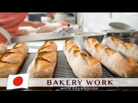 Bakery work with sourdough   Family owned bakery in Japan