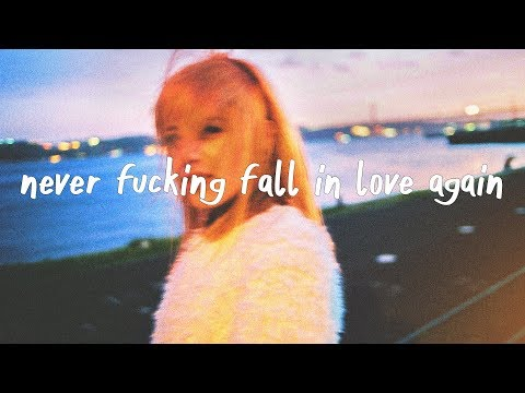 X Lovers - Never Fucking Fall In Love Again (Lyric Video)