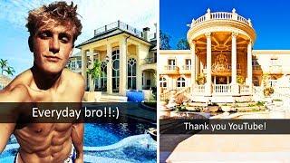2018 lamborghini logan paul. wonderful lamborghini 10 most ridiculous youtuber houses worth millions jake paul faze rug  ricegum and 2018 lamborghini logan paul