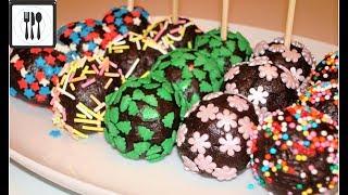 Сладкие шарики без выпечки! Два ингредиента! Кейк-попсы рецепт за 2 минуты.