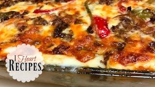 Dinner Recipes | Homemade Philly Cheesesteak Lasagna - Easy Tasty Baked Lasagna I Heart Recipes