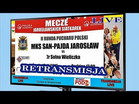 WIDEO: SAN-Pajda Jarosław - 7R Solna Wieliczka [TRANSMISJA NA ŻYWO]