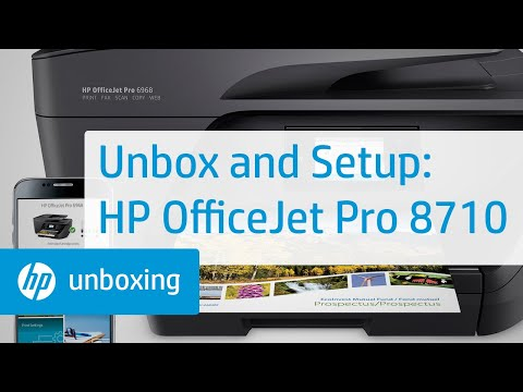 Unboxing, Setting Up, and Installing the HP OfficeJet Pro 8710 Printer