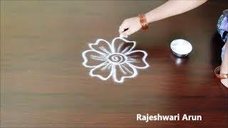 Creative Muggulu Design Without Dots * Simple Rangoli Art Designs * Friday Kolam Designs