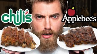 Applebees Vs. Chili's Taste Test | FOOD FEUDS