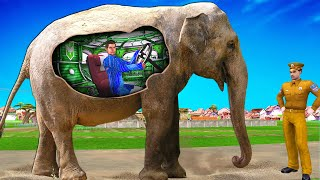 जादुई हाथी Magical Elephant Village Comedy  हिंदी कहानिया Hindi Kahaniya Hindi Comedy Stories Kahani