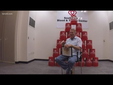 One man. 125 gallons of blood. 3,000 lives saved.