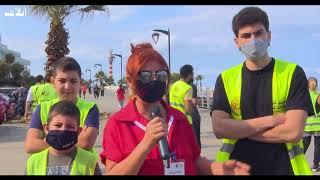 حملة دفى تقوم بتنظيف شواطيء بيروت من النفايات