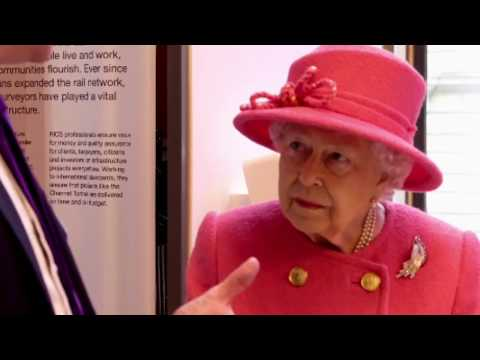 Queen Elizabeth Shown Digital Technology & Time Capsule On RICS 15Oth Anniversary Visit 2018
