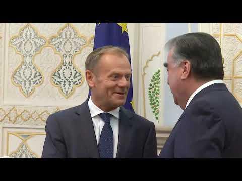 President Tusk visit to Tajikistan