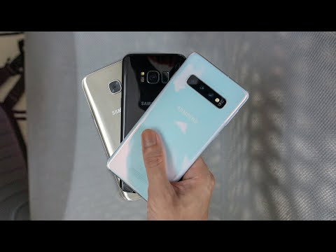 Samsung Galaxy S10, S8 and S7 Edge : Design and Look, Side-by-side Comparison