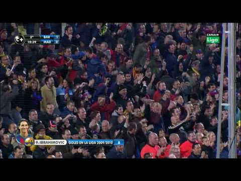 F.C. Barcelona 1 - 0 Real Madrid  -El Clasico 2009-  Gol Ibrahimovic  HD.HQ
