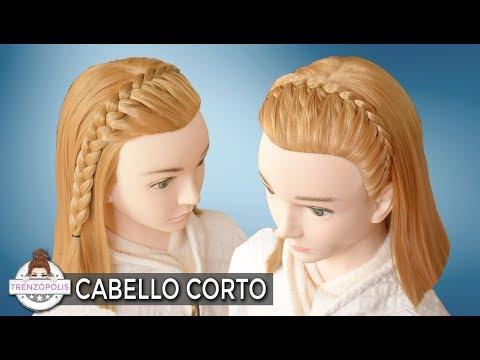 3 Peinados Con Trenzas Para Cabello Corto Semirecogidos Faciles Y