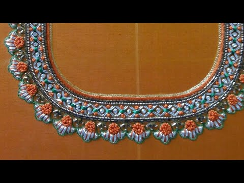 Blouse Design With Zardosi & French Knots | Aari Works | Maggam Works |#113