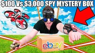 $100 Vs $10,000 SPY GADGETS EBAY MYSTERY BOX 📦⁉️ Night Vision Googles, Drones, Toys & More!