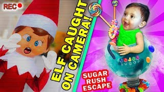 ELF on SHELF CAUGHT on CAMERA! + DRY ICE DRINKS of GUMMY + Shawn No Like Arcade  FUNnel Vision