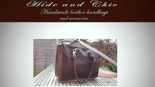Hide And Chic Leather Handbags By Sandra Thurston